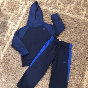 WC Russell Boys Pant & Hoodie  4/5 Blue Jogger Set